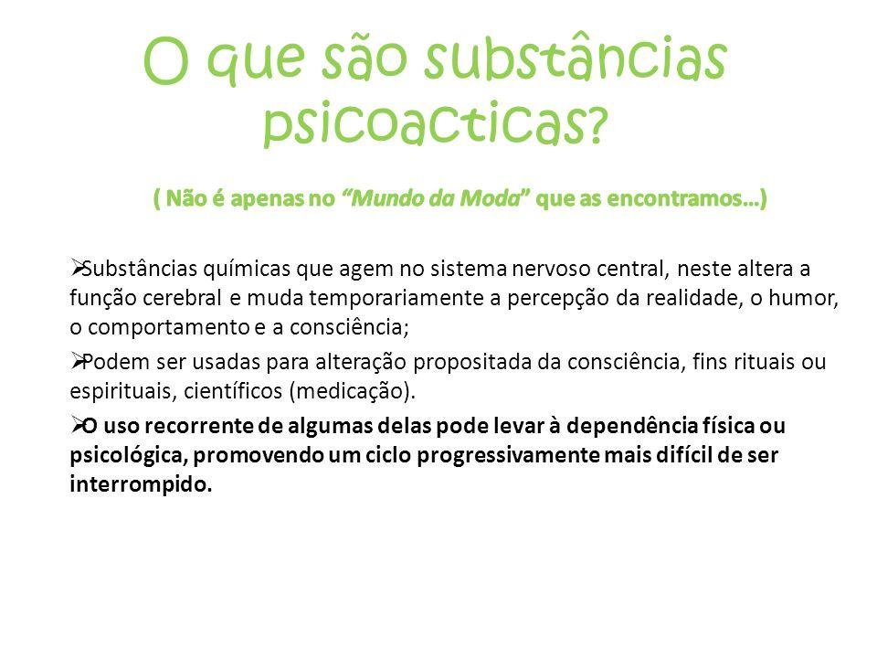 O que são substâncias psicoacticas?