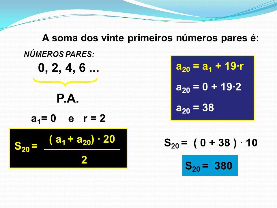 CONDIÇÃO DE EXISTÊNCIA: a 2 – a 1 = a 3 – a 2 TERMO GERAL a 2 = a 1 + r a 3 = a 1 + 2r a 4 = a 1 + 3r a n = a 1 + (n – 1).r