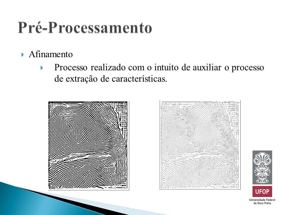 Afinamento Processo realizado com o intuito de auxiliar o processo de extração de características.
