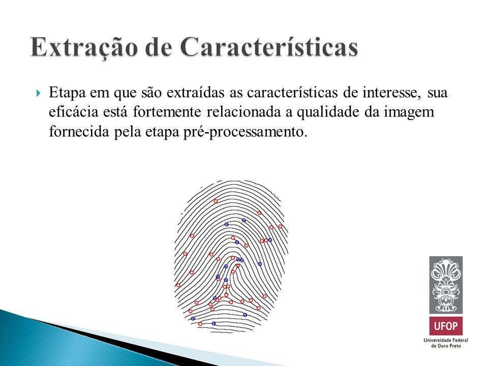 Etapa em que são extraídas as características de interesse, sua eficácia está fortemente relacionada a qualidade da imagem fornecida pela etapa pré-pr