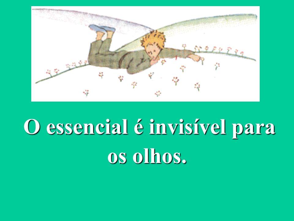 O essencial é invisível para os olhos. O essencial é invisível para os olhos.