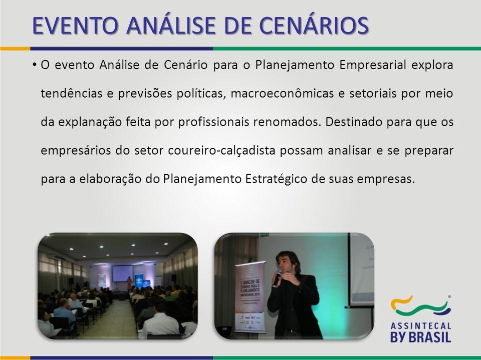 EVENTO ANÁLISE DE CENÁRIOS O evento Análise de Cenário para o Planejamento Empresarial explora tendências e previsões políticas, macroeconômicas e set
