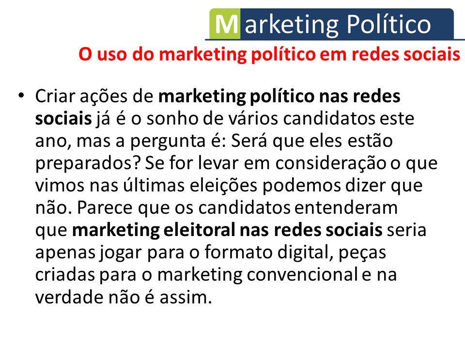 Criar ações de marketing político nas redes sociais já é o sonho de vários candidatos este ano, mas a pergunta é: Será que eles estão preparados? Se f