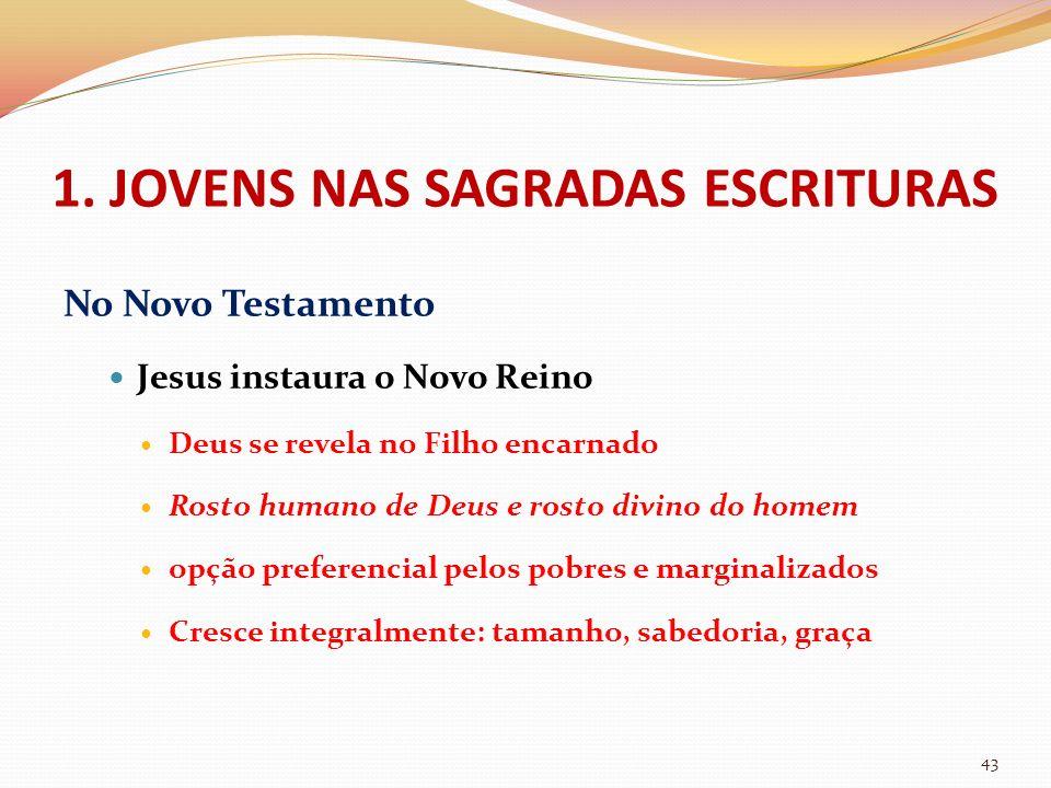 No Novo Testamento Jesus instaura o Novo Reino Deus se revela no Filho encarnado Rosto humano de Deus e rosto divino do homem opção preferencial pelos