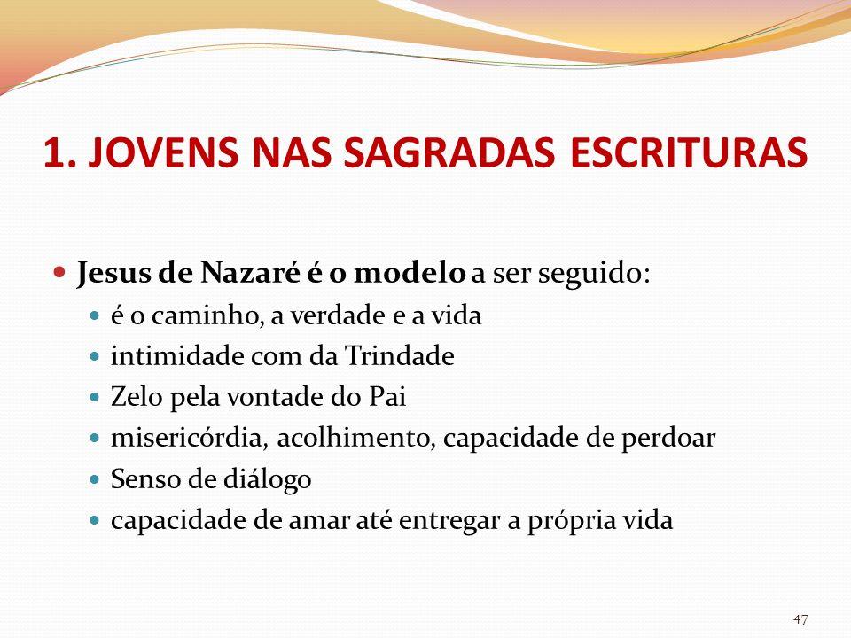 Jesus de Nazaré é o modelo a ser seguido: é o caminho, a verdade e a vida intimidade com da Trindade Zelo pela vontade do Pai misericórdia, acolhiment
