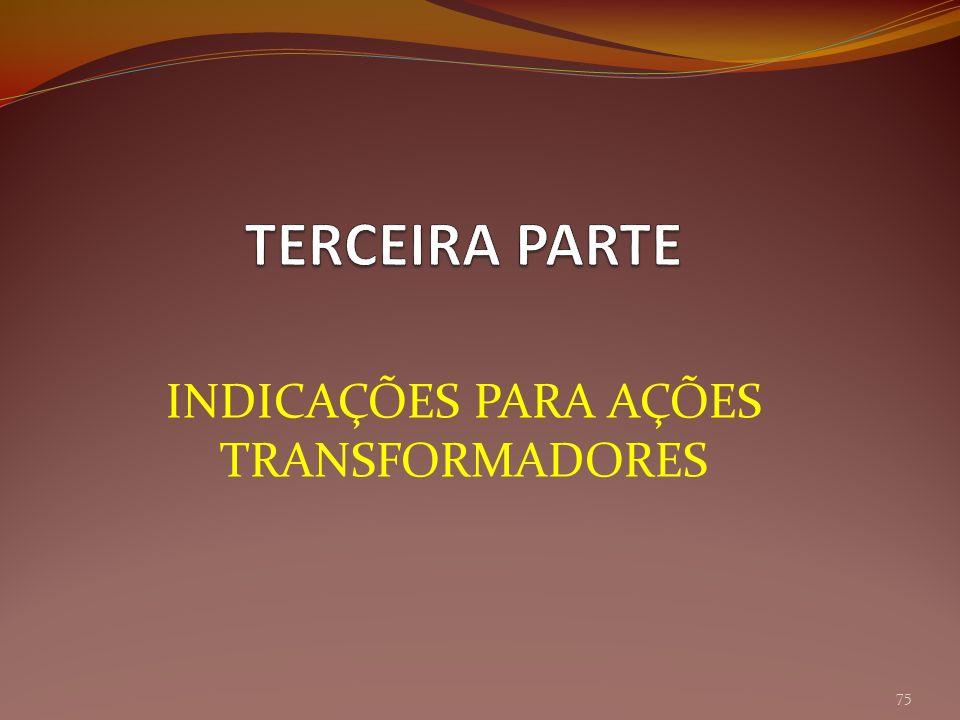 INDICAÇÕES PARA AÇÕES TRANSFORMADORES 75
