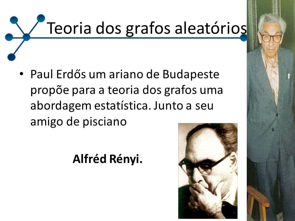 Paul Erdős um ariano de Budapeste propõe para a teoria dos grafos uma abordagem estatística. Junto a seu amigo de pisciano Alfréd Rényi. Teoria dos gr