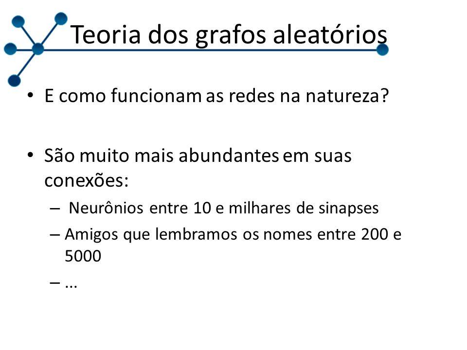 Teoria dos grafos aleatórios E como funcionam as redes na natureza.