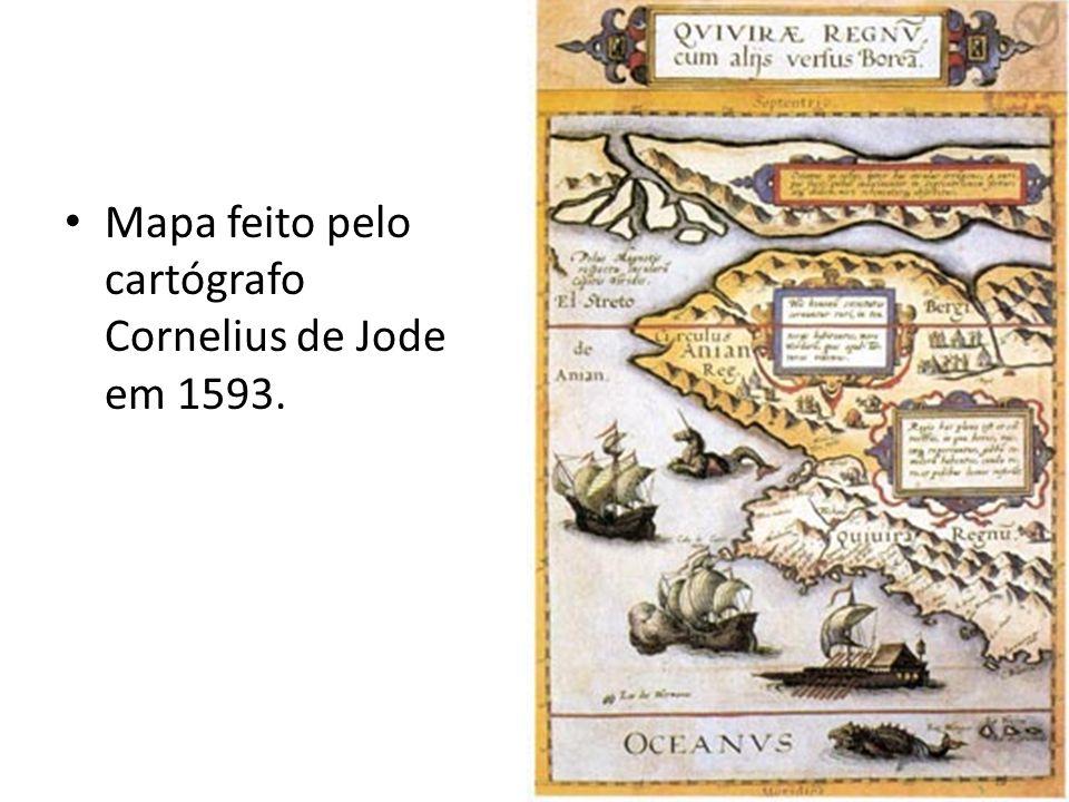 Mapa feito pelo cartógrafo Cornelius de Jode em 1593.