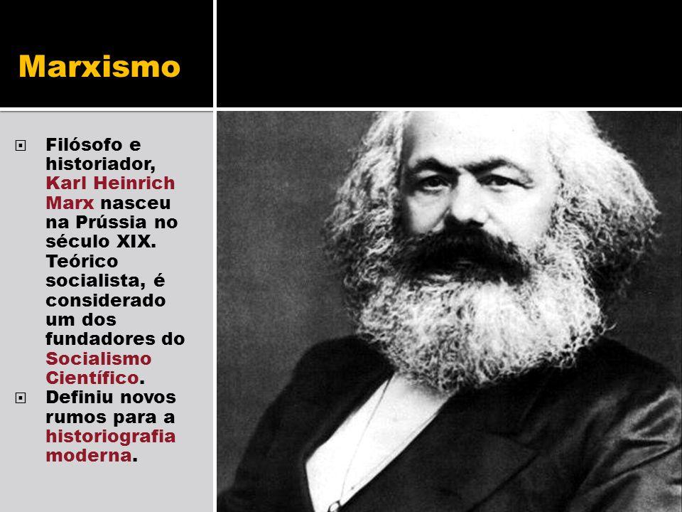 Marxismo Filósofo e historiador, Karl Heinrich Marx nasceu na Prússia no século XIX. Teórico socialista, é considerado um dos fundadores do Socialismo