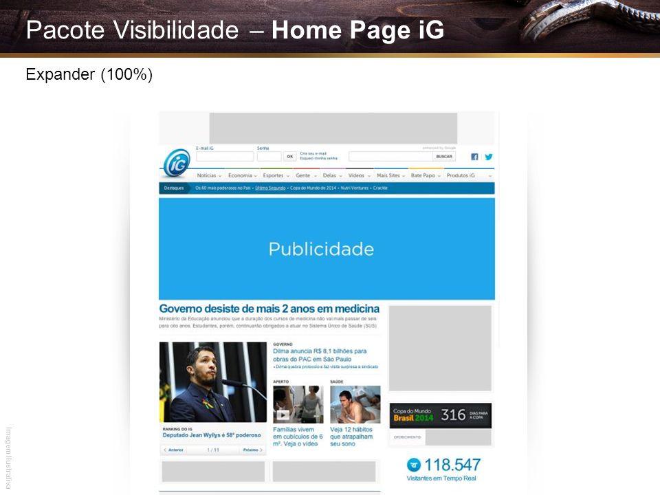 Pacote Visibilidade – Home Page iG Expander (100%) Imagem Ilustrativa