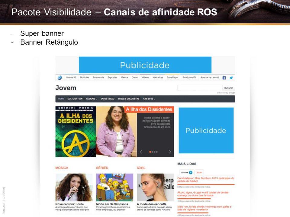 Pacote Visibilidade – Canais de afinidade ROS -Super banner -Banner Retângulo Imagem Ilustrativa