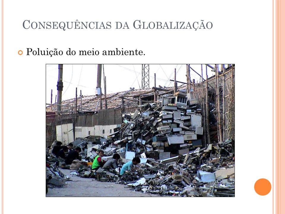 C ONSEQUÊNCIAS DA G LOBALIZAÇÃO Poluição do meio ambiente.