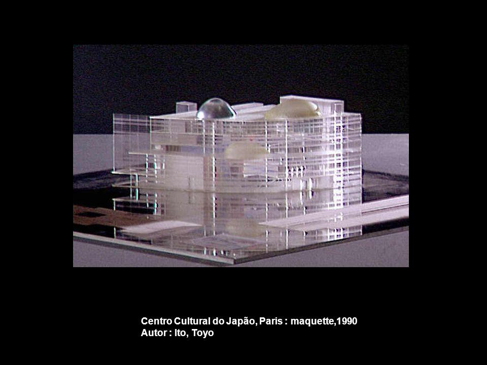 Centro Cultural do Japão, Paris : maquette,1990 Autor : Ito, Toyo