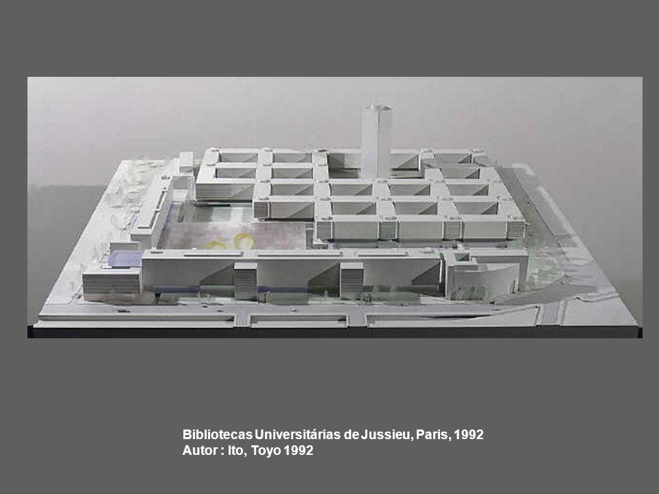 Bibliotecas Universitárias de Jussieu, Paris, 1992 Autor : Ito, Toyo 1992