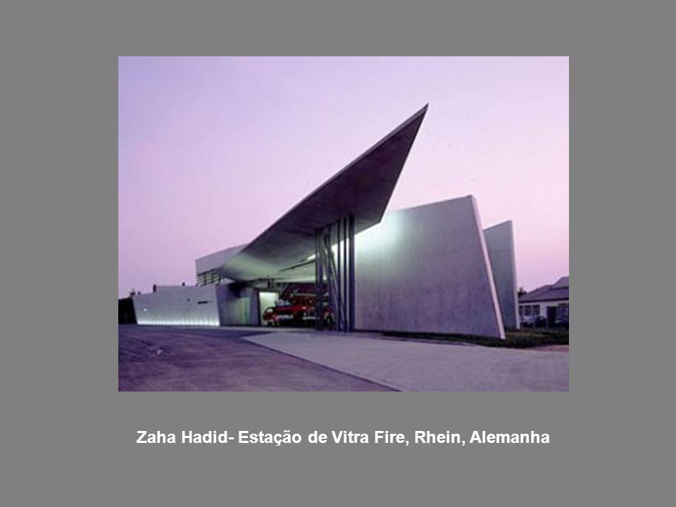 Zaha Hadid- Estação de Vitra Fire, Rhein, Alemanha