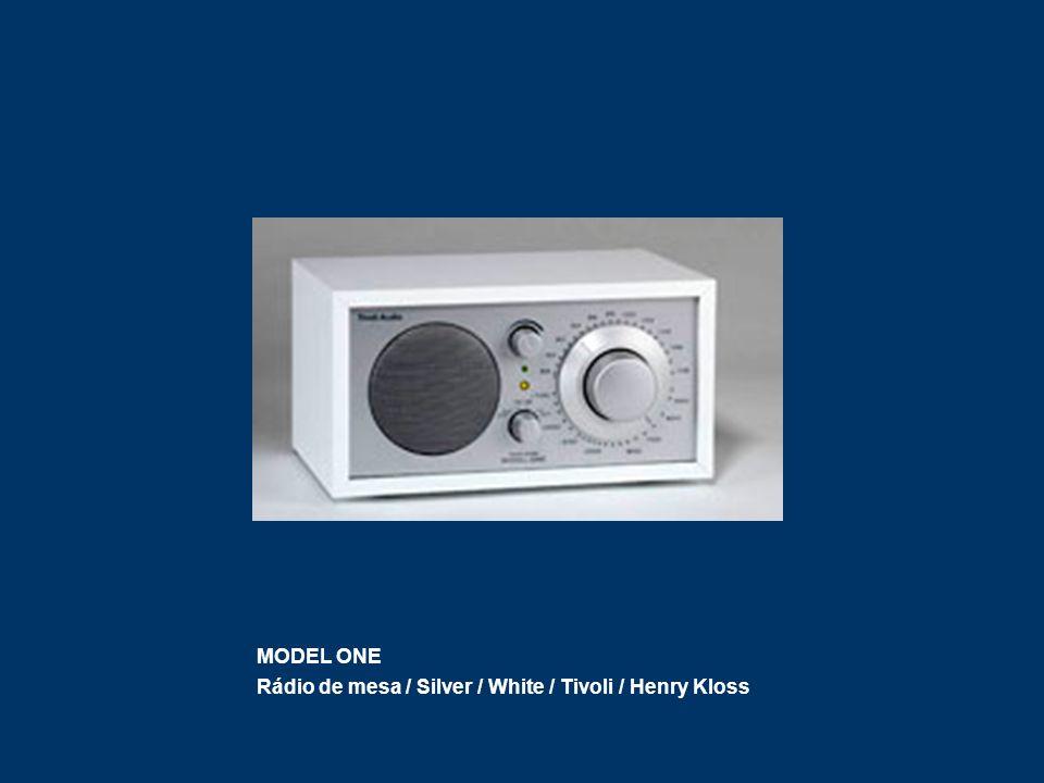 MODEL ONE Rádio de mesa / Silver / White / Tivoli / Henry Kloss