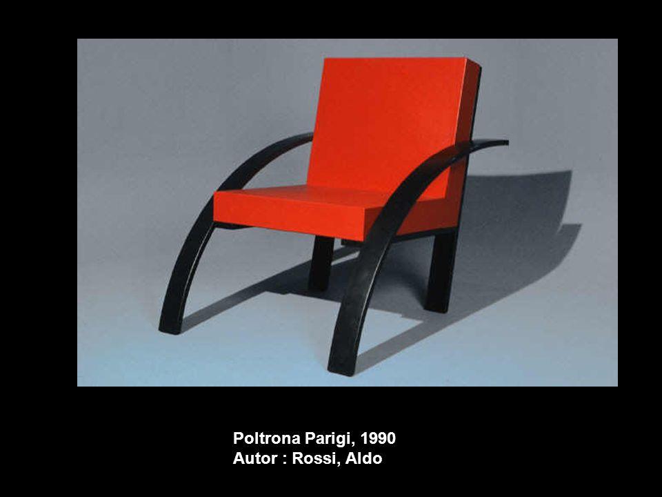 Poltrona Parigi, 1990 Autor : Rossi, Aldo