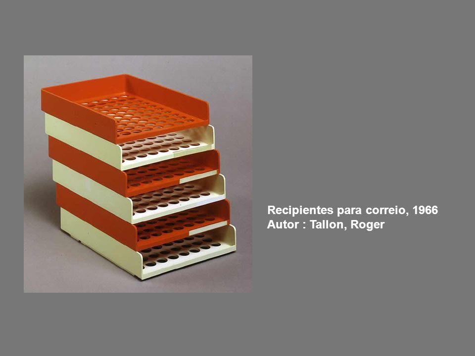 Recipientes para correio, 1966 Autor : Tallon, Roger