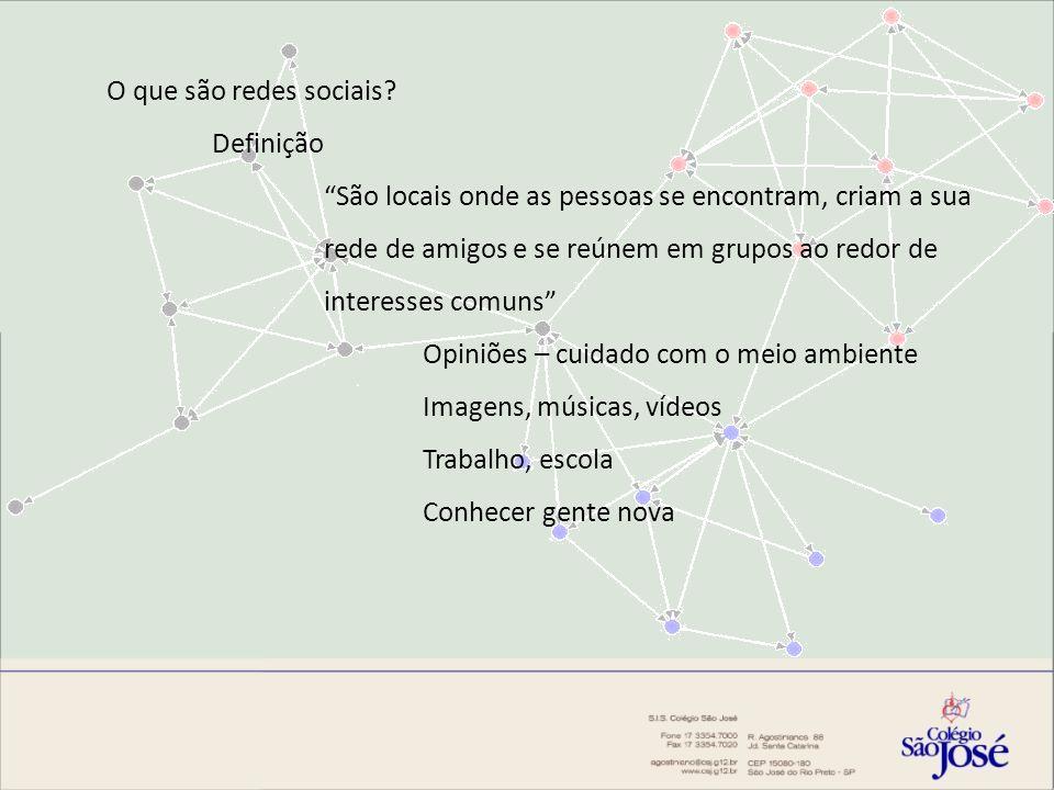 História A primeira rede social: Ideia principal: Compartilhar a sua vida