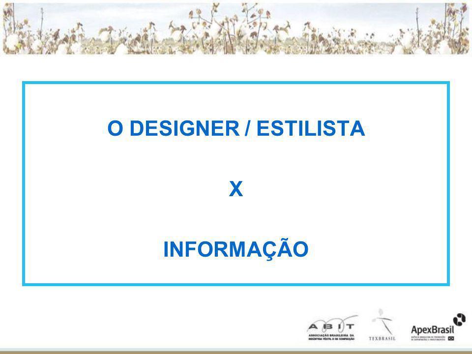 O DESIGNER / ESTILISTA X INFORMAÇÃO