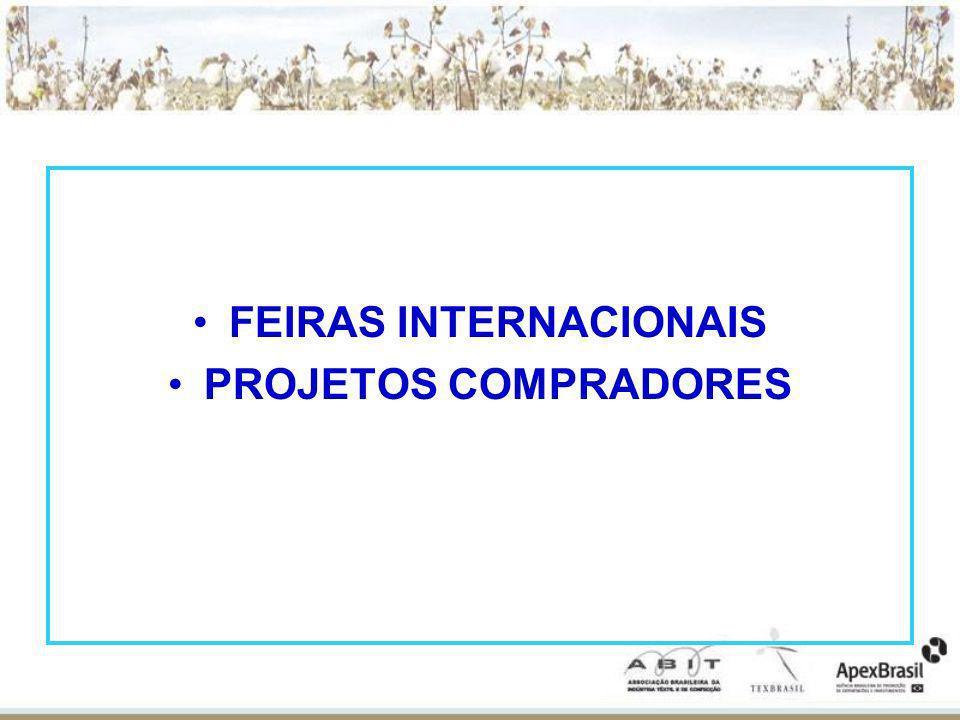 FEIRAS INTERNACIONAIS PROJETOS COMPRADORES