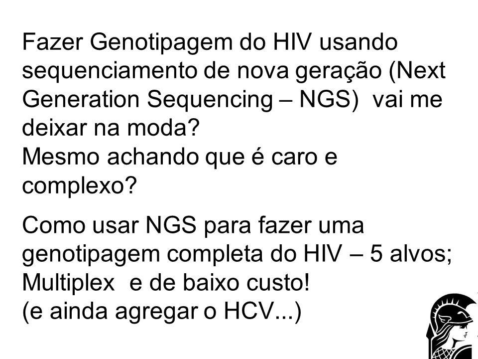 Como usar NGS para fazer uma genotipagem completa do HIV – 5 alvos; Multiplex e de baixo custo! (e ainda agregar o HCV...)