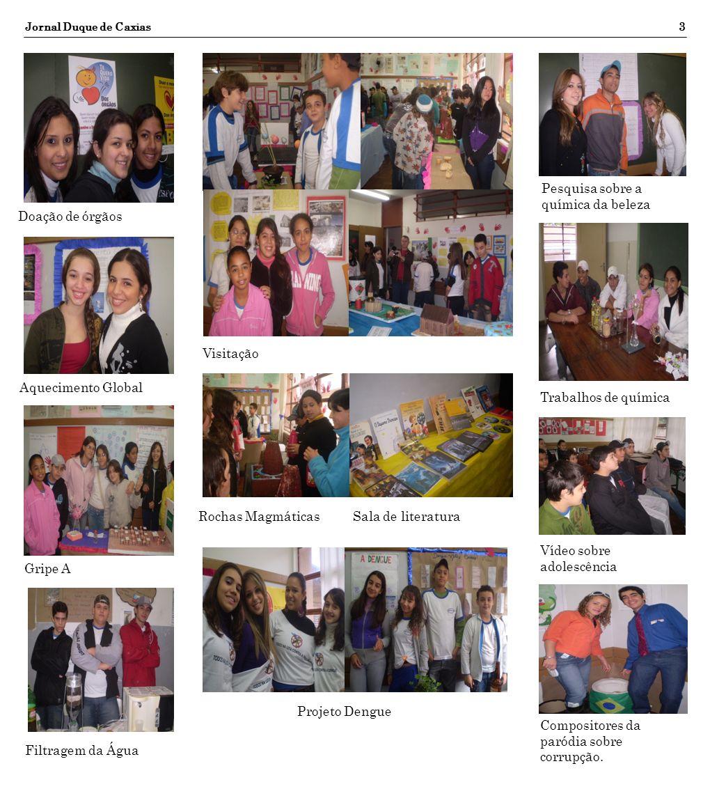 Jornal Duque de Caxias3 Doação de órgãos Aquecimento Global Gripe A Filtragem da Água Visitação Rochas MagmáticasSala de literatura Compositores da pa