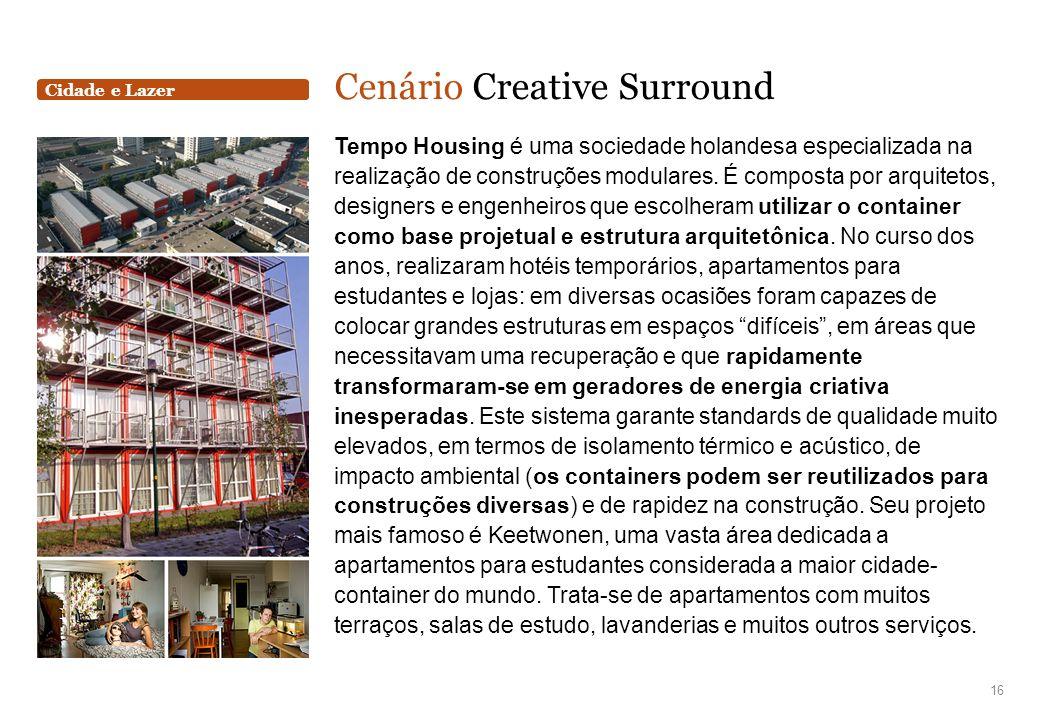 Cidade e Lazer Cenário Creative Surround Tempo Housing é uma sociedade holandesa especializada na realização de construções modulares. É composta por