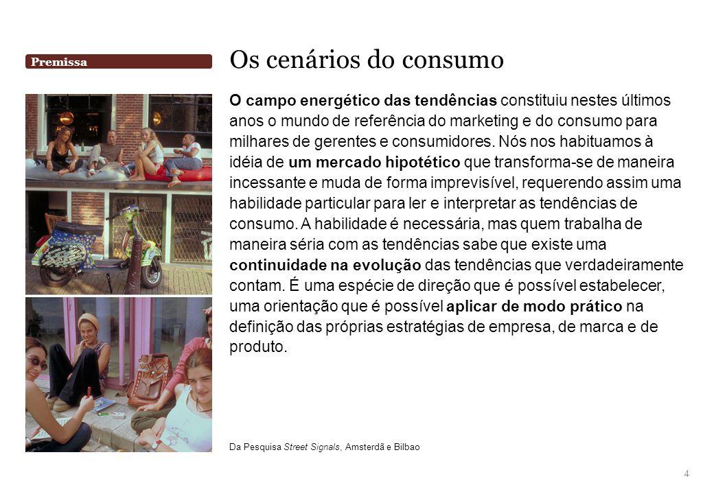 Premissa Os cenários do consumo O campo energético das tendências constituiu nestes últimos anos o mundo de referência do marketing e do consumo para