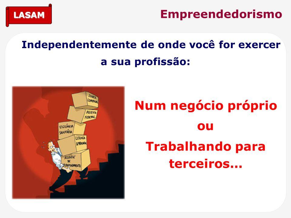 LASAM Empreendedorismo Independentemente de onde você for exercer a sua profissão: Num negócio próprio ou Trabalhando para terceiros...