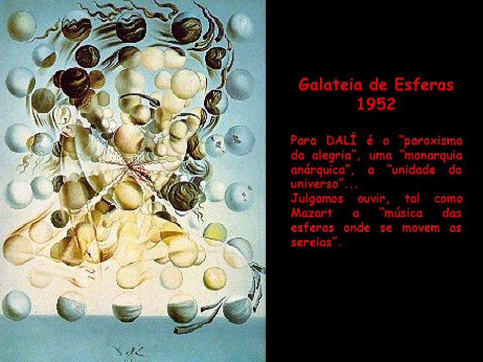 Leda Atômica 1949 DALÍ fala: A Leda Atômica é o quadro chave da nossa vida. Tudo aí está suspenso no espaço, sem que nada toque em nada. A própria mor