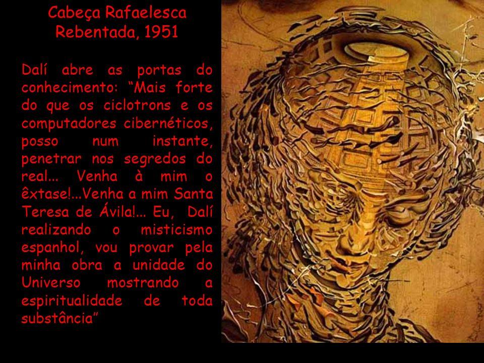 Segundo Dalí, Picasso não trata da beleza, mas da feiura...O seu intelectualismo furioso é, por outro lado denunciado por este cérebro que lhe sai pel