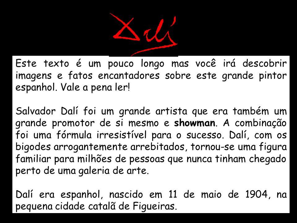 Este texto é um pouco longo mas você irá descobrir imagens e fatos encantadores sobre este grande pintor espanhol.