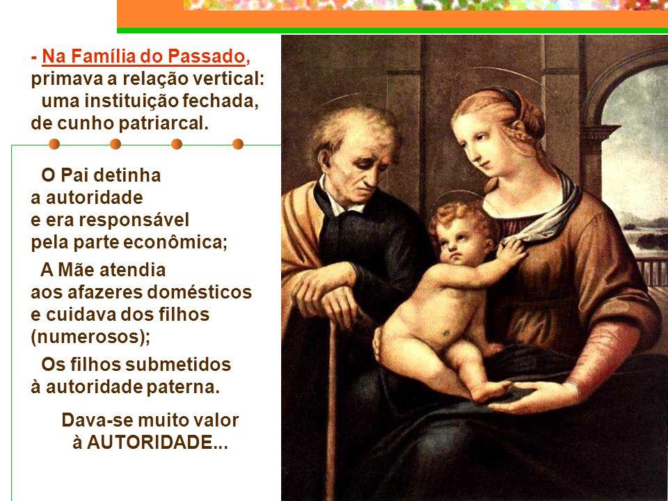 A Família é uma instituição em mudança ou já superada? A família é a célula base da Igreja e da sociedade, mas está passando por uma transformação pro