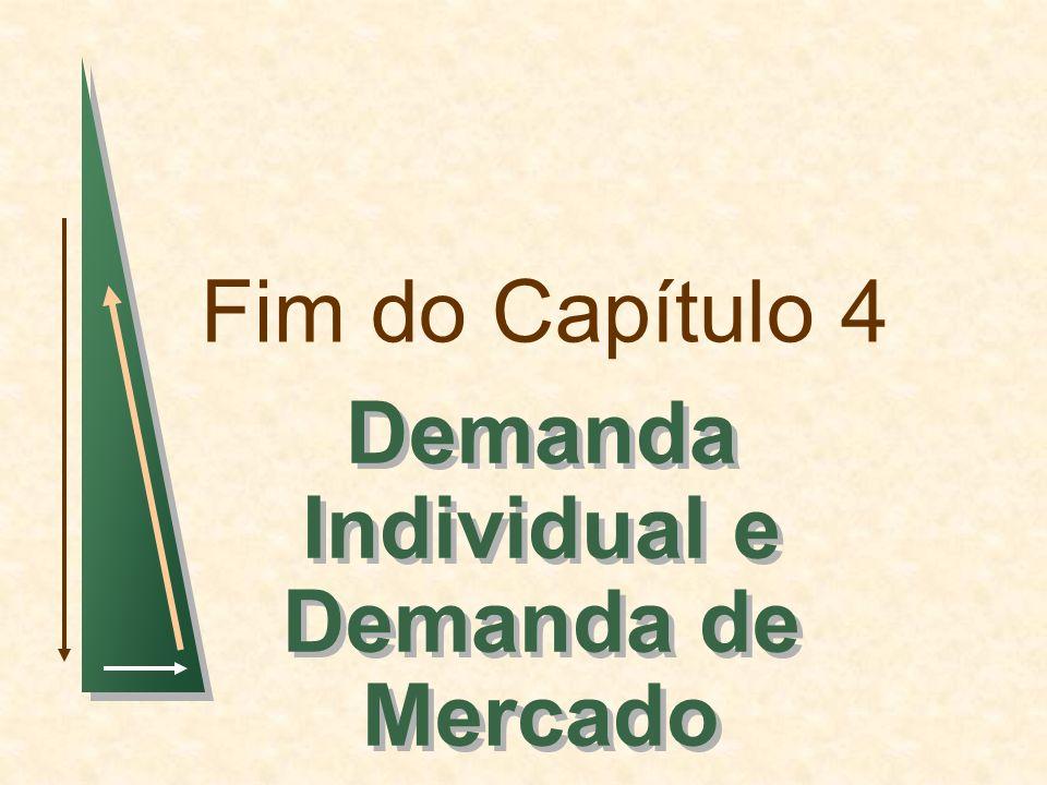 Fim do Capítulo 4 Demanda Individual e Demanda de Mercado