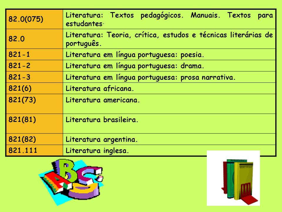 CLASSE 8: LÍNGUA, LINGUÍSTICA e LITERATURA Língua, Linguística e Literaturas 81'3 Línguas: (fonética, ortografia, gramática, morfologia, sintaxe, semâ