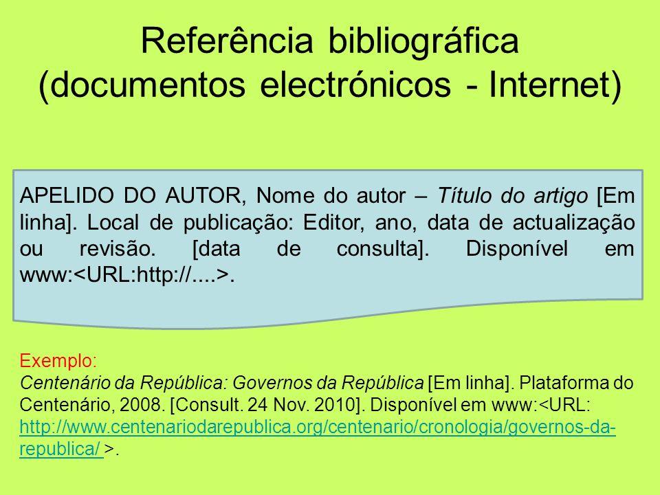 Exemplo 1 (um autor): SANTOS, José Rodrigues dos – O Codex 632. 22ª ed. [s.l.]: Gradiva, 2006. Exemplo 2 (até três autores): PINTO, Elisa Costa; BAPTI
