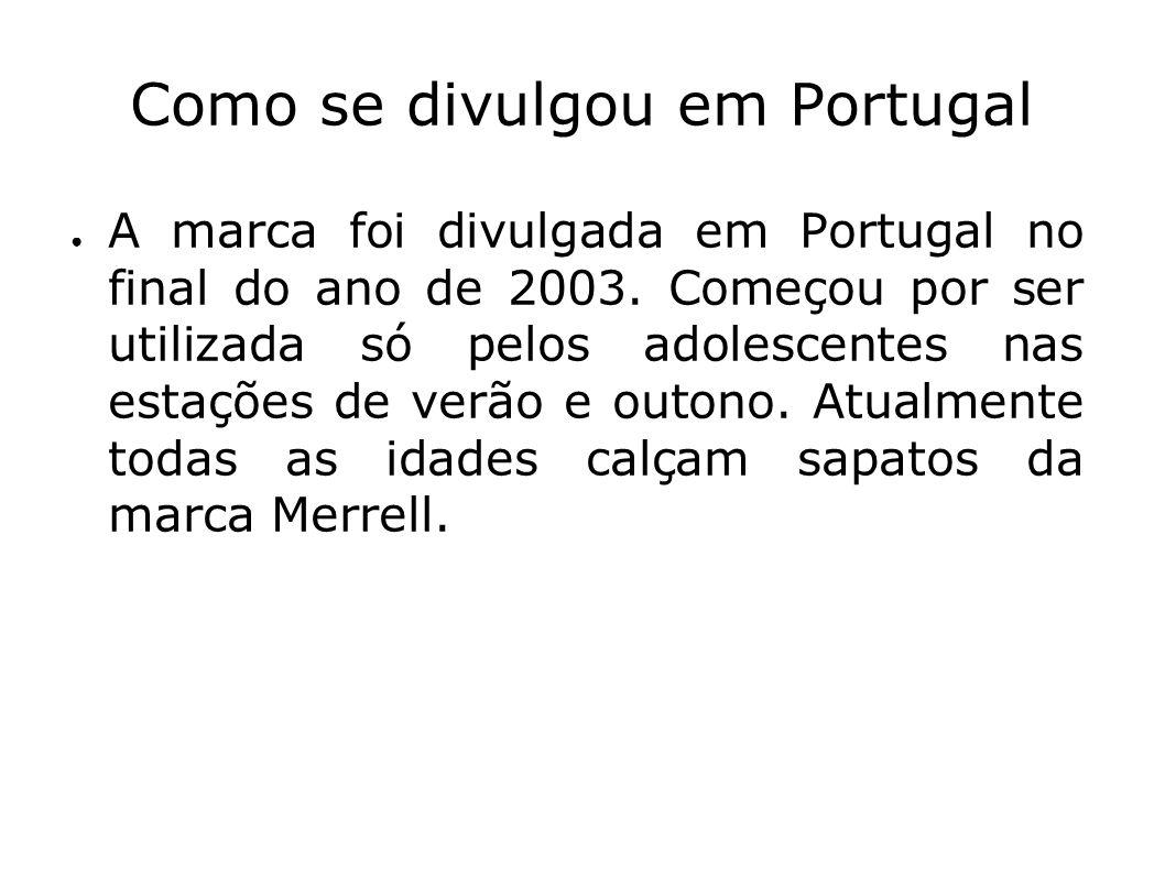 Como se divulgou em Portugal A marca foi divulgada em Portugal no final do ano de 2003. Começou por ser utilizada só pelos adolescentes nas estações d
