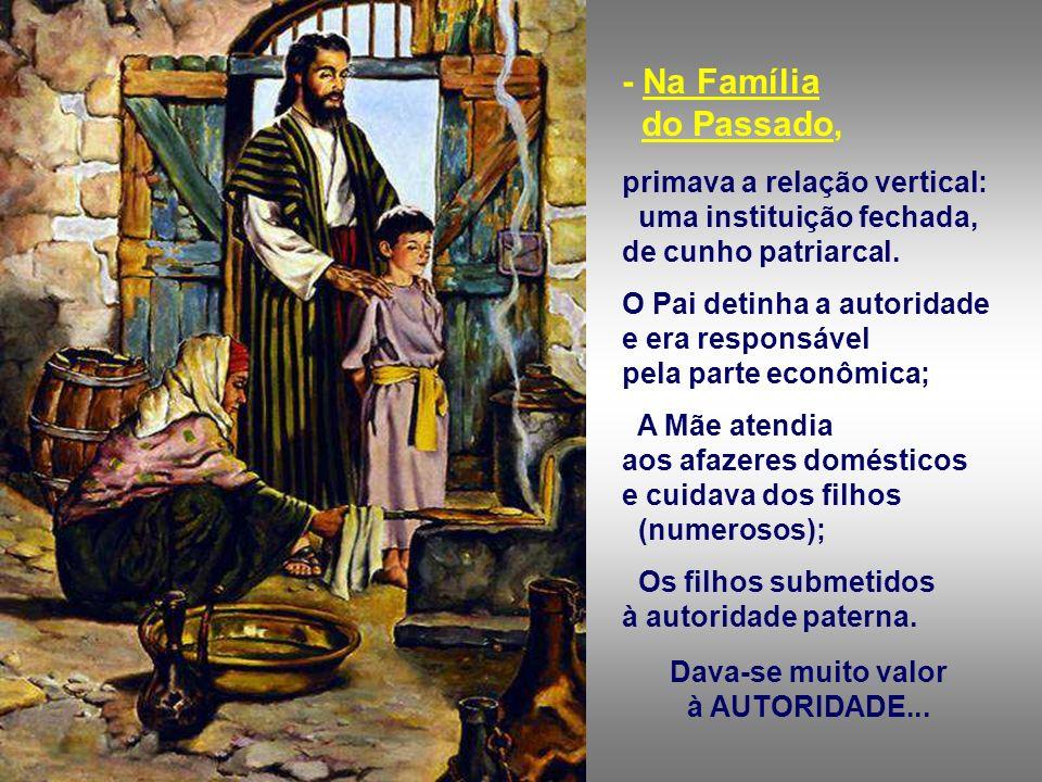 + A Família é uma instituição em mudança ou já superada? A família é a célula base da Igreja e da sociedade, mas está passando por uma transformação p