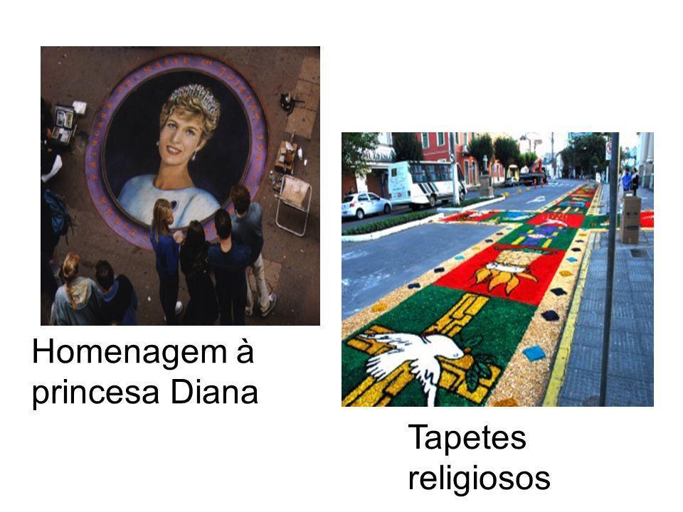 Homenagem à princesa Diana Tapetes religiosos