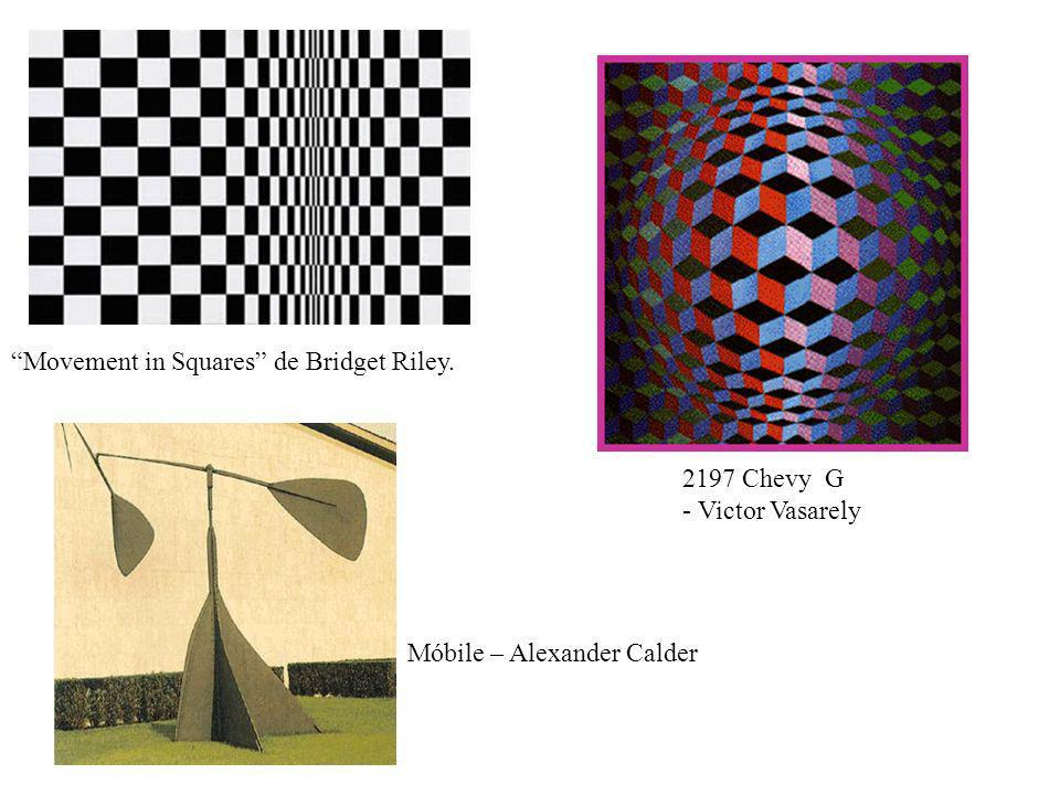 Movement in Squares de Bridget Riley. 2197 Chevy G - Victor Vasarely Móbile – Alexander Calder