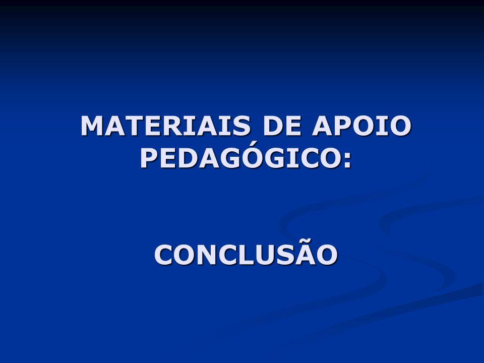 MATERIAIS DE APOIO PEDAGÓGICO: CONCLUSÃO