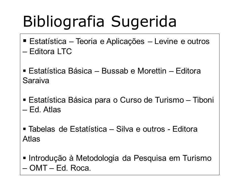 Estatística – Teoria e Aplicações – Levine e outros – Editora LTC Estatística Básica – Bussab e Morettin – Editora Saraiva Estatística Básica para o C