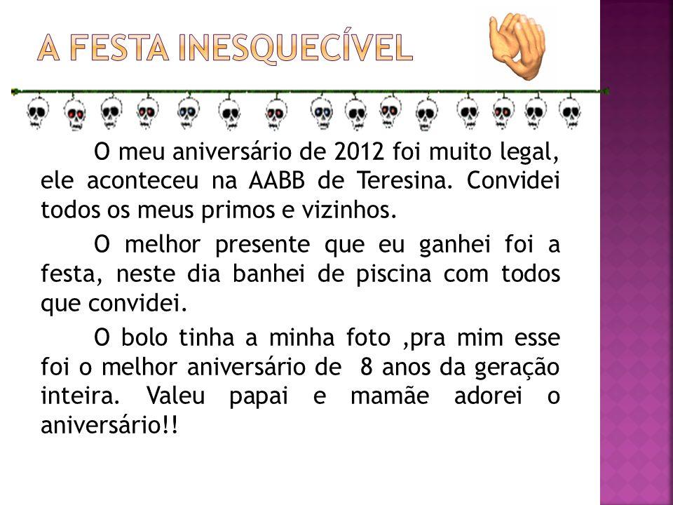 Oi, sou a Ana Luisa Silva Sousa, tenho 9 anos, faço aniversário no dia 15 de julho.