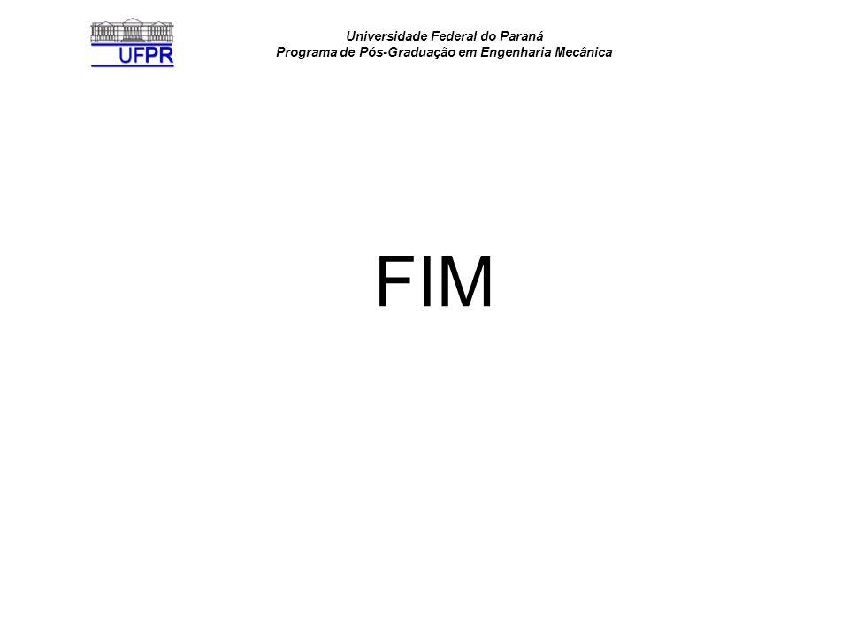 Universidade Federal do Paraná Programa de Pós-Graduação em Engenharia Mecânica FIM