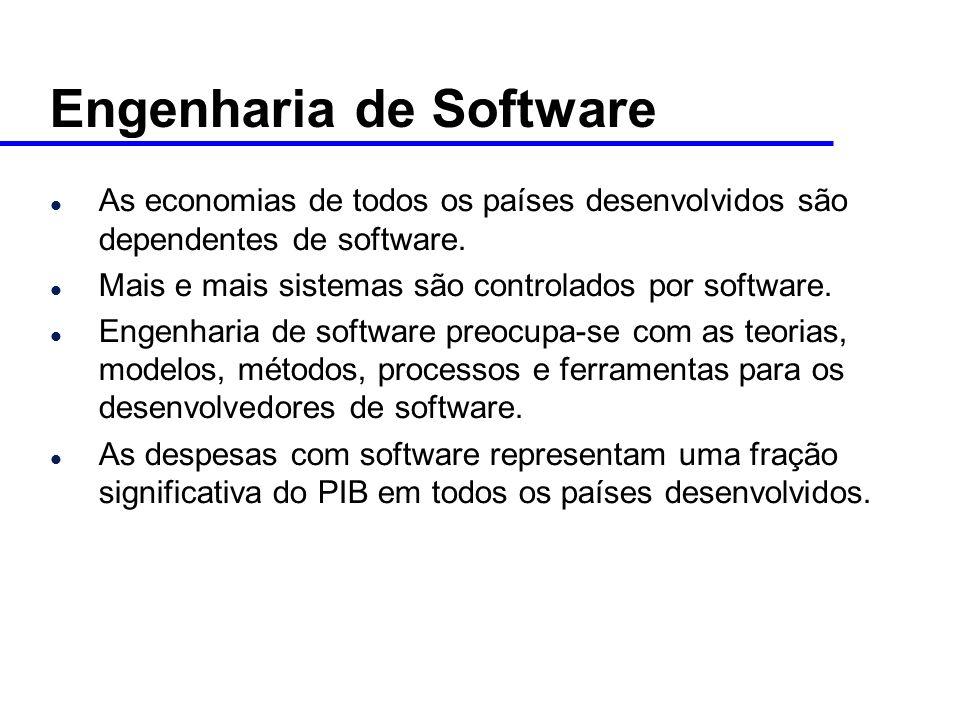 l As economias de todos os países desenvolvidos são dependentes de software.
