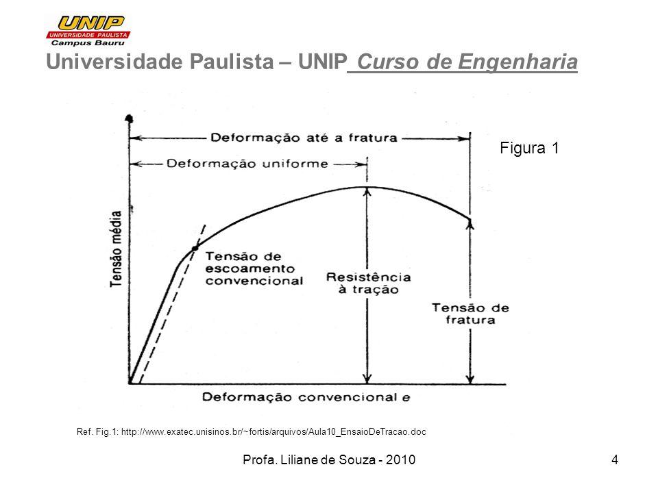 Profa. Liliane de Souza - 20104 Universidade Paulista – UNIP Curso de Engenharia Ref. Fig.1: http://www.exatec.unisinos.br/~fortis/arquivos/Aula10_Ens