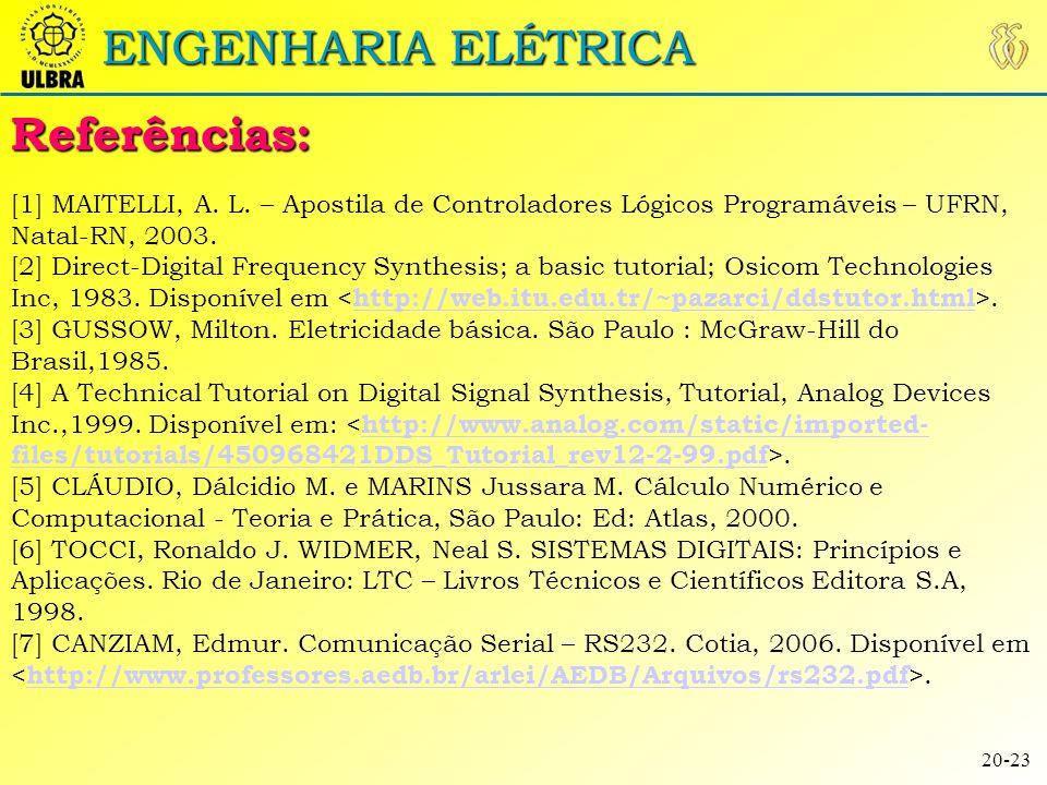 ENGENHARIA ELÉTRICA [8] NXP – LPC2378, Data Sheet.
