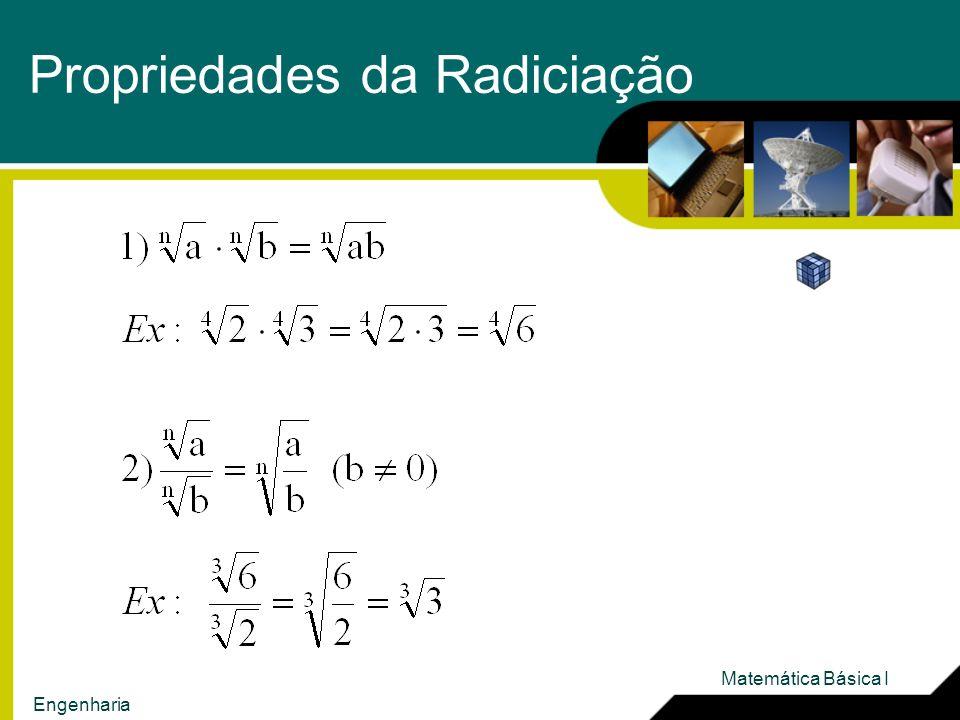 Propriedades da Radiciação Matemática Básica I Engenharia